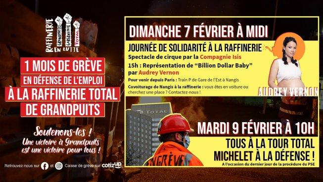 Grandpuits réunit ses soutiens: soyons massivement présents les 7 et 9 février!
